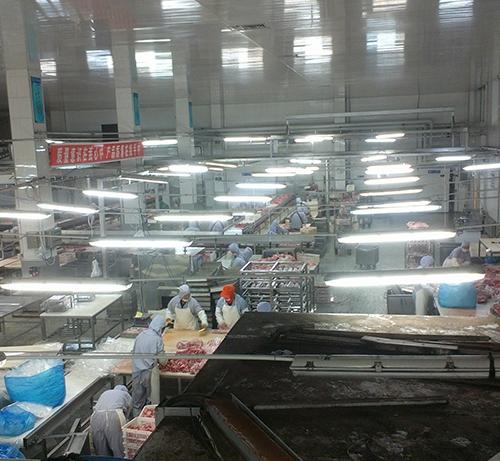 大庄园肉业生产车间